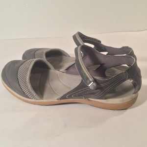 Teva gray Mary Jane Velcro ankle strap sandals
